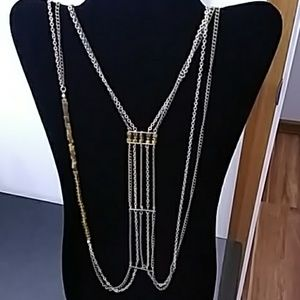 NWT BROWN/GOLD 2 TIER NECKLACE